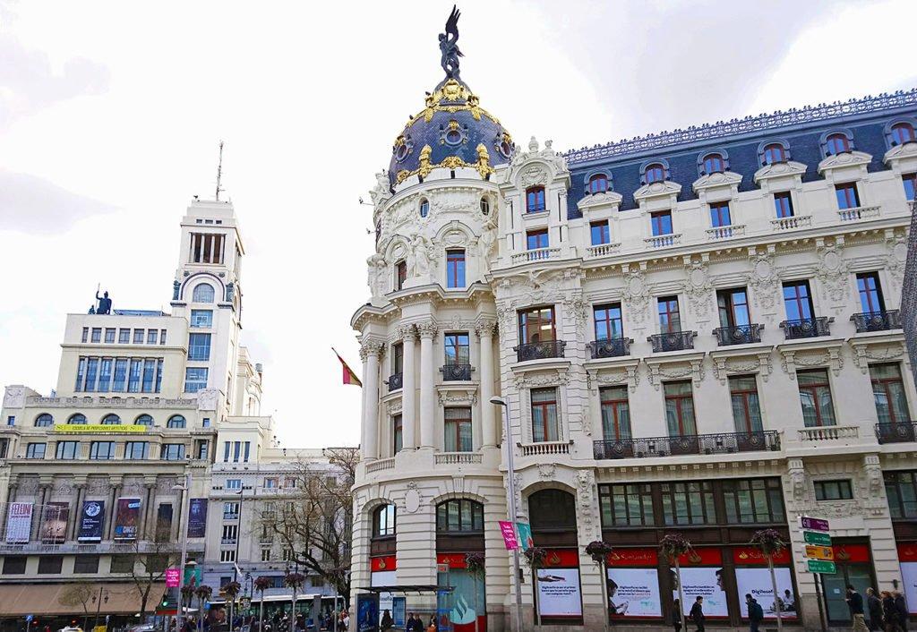 Gran via-palazzi Madrid-Madrid-Spagna-Spain