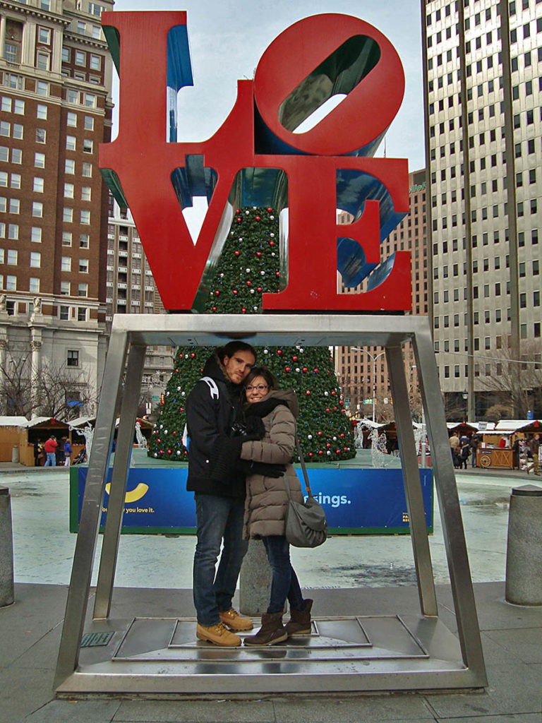 Love Park- Love Robert Indiana-Philadelphia-Philly-Stati Uniti-USA