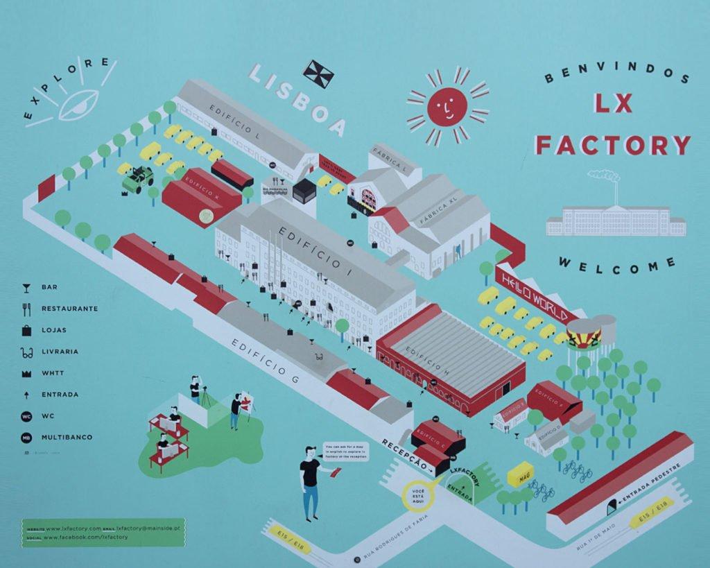 Lx Factory-piantina Lx Factory-Lisbona-Lisboa-Portogallo-Portugal-Europa-Europe-