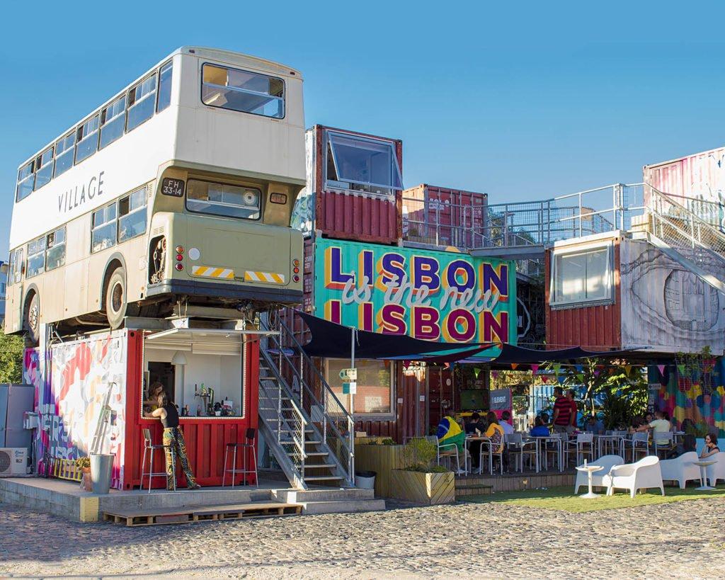 Village Undergorund-container Village Underground-Lisbon-Lisbona-Lisboa-Portogallo-Portugal-Europa-Europe-
