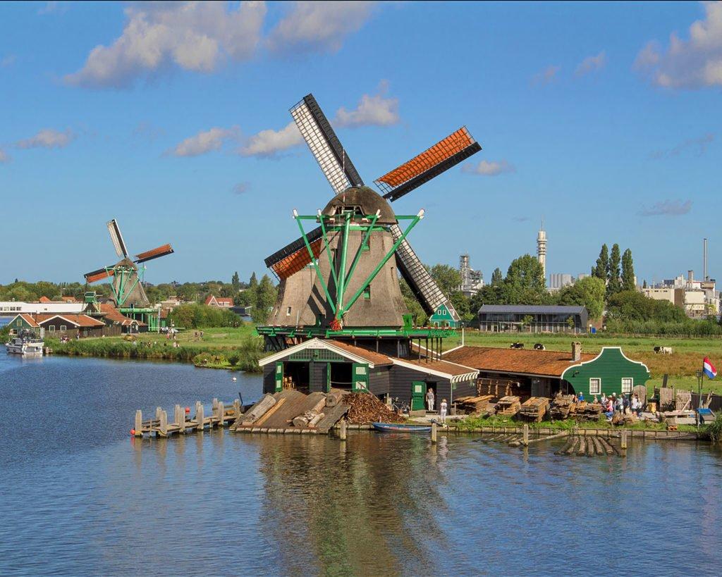 mulini a vento-mulini a vento olanda-zaanse schans-mulini olanda-Amsterdam e dintorni-dintorni di Amsterdam-Olanda-Holland