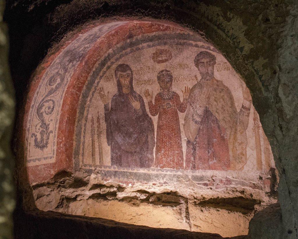 affreschi catacombe di San Gennaro-Catacombe di Napoli-Napoli-Campania-Italia