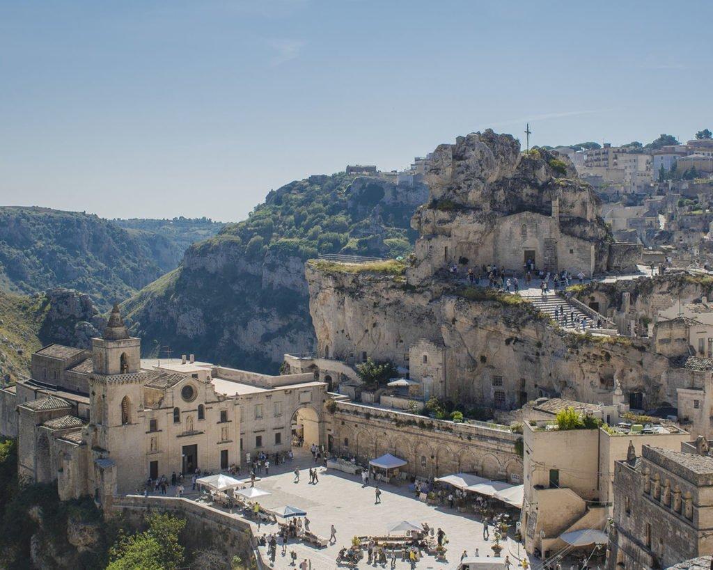 panoramica di Matera-sasso caveoso-chiesa Idris-sasso barisano-Matera-campania-sassi Matera-Italia