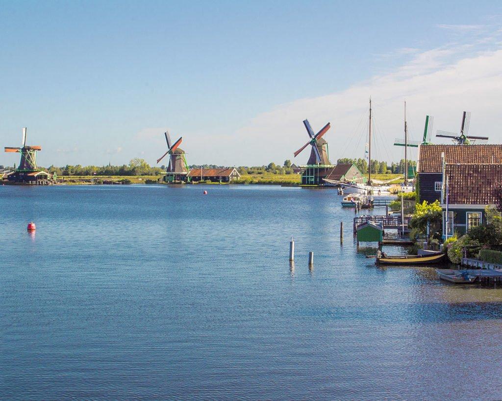 zaanse schans-paesi olandesi-msterdam-Amsterdam-Olanda-Holland-Europa-mulini a vento