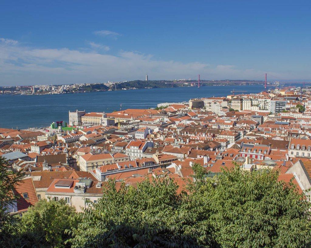 Lisbona panorama-Lisbona dall'alto -Lisbona-Lisbon-Portugal-Portogallo-Europa