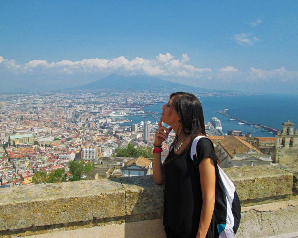 castel sant'elmo-panorama di napoli-Napoli-Campania-Italia-Europa