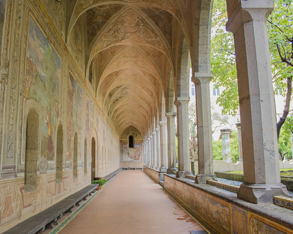 chiostro santa chiara-Napoli-Campania-Italia-Europa