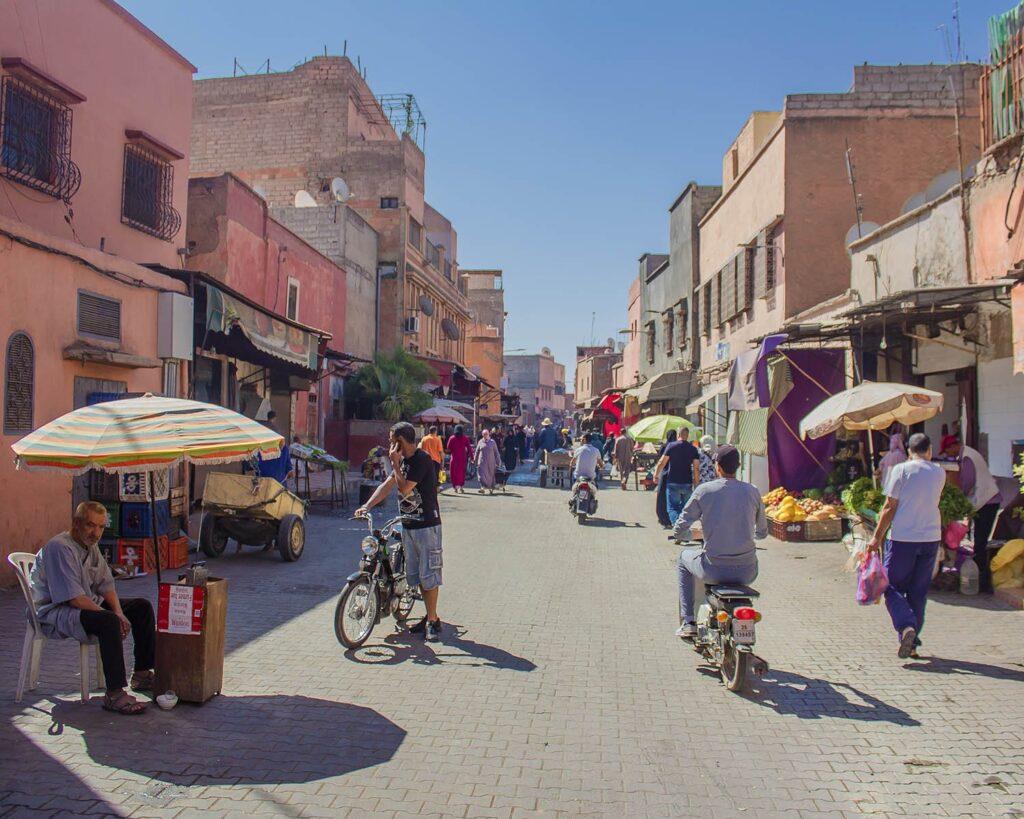 strade-marrakech-medina-Marrakech-Marocco-Africa