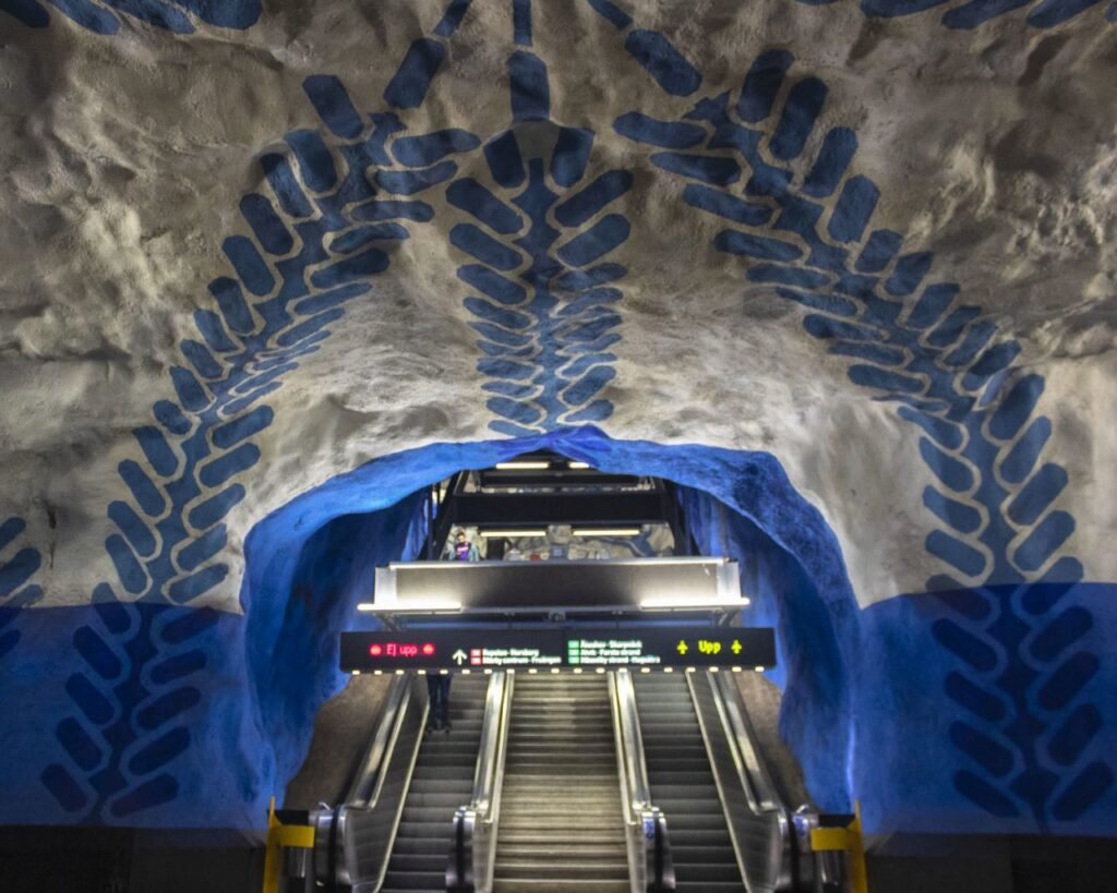 Tunnelbana-metro Stoccolma-Stoccolma-arcipelago Stoccolma-Stockholm-Svezia-Sweedn-Europa